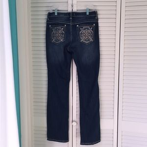 "Like New Sz 8 Jeans 31"" Inseam distressed look"